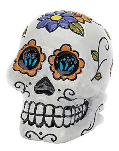 Pen Plax Rr1910 Sugar Skull Aquarium Ornament Blue