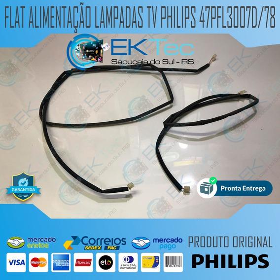 Par Flat Alimentação Lampadas Tv Philips 47pfl3007d/78