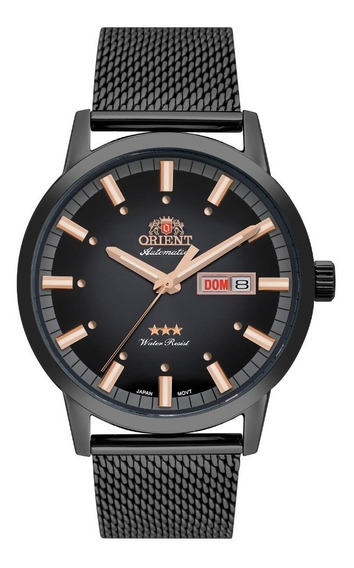 Relógio Orient Masculino Automático 469ys085 G1gx Preto Rose