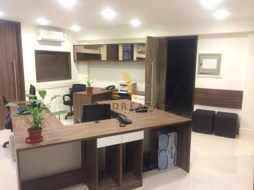 Imagem 1 de 13 de Barra Da Tijuca - O2 Corparate Office - Alugo R$5.900,00 - Magnifco Conjunto De Salas, Toda Reformada Ideal Para Empresas De Alto Padrão  C/ 87m² - Loc5511m - 69421296