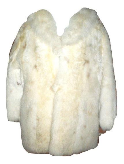 Abrigo Piel Natural Alpaca Seminuev Elegante Fiesta $65,990a