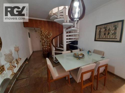 Imagem 1 de 30 de Cobertura Com 3 Dormitórios À Venda, 340 M² Por R$ 1.700.000,00 - Ponta Da Praia - Santos/sp - Co0244