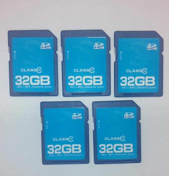 Cartão De Memória Sd Hc 32gb - Classe 10 - Uso Prof. - 5 Pçs