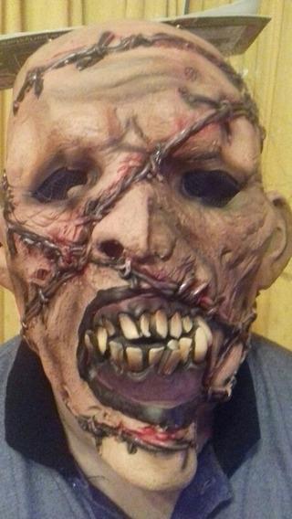 Mascara Zombie Puas 100% Latex. Cotillon Chirimbolos