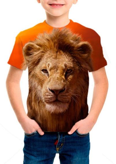 Camiseta Infantil Filme Rei Leão - Simba - M001