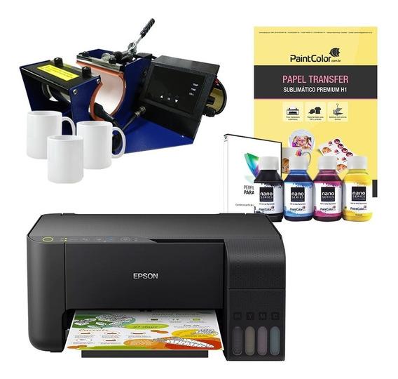 Impressora L3150 Sublimática + Kit Estampar Canecas 220v