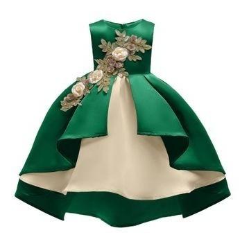 Vestidos De Niñas Fiesta Ropa Bolsas Y Calzado Verde En