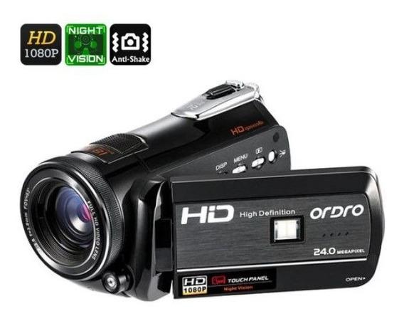 Filmadora Dig Ordro Hdv-d395 Wi-fi V. Noturna 18x Zoom 24mp