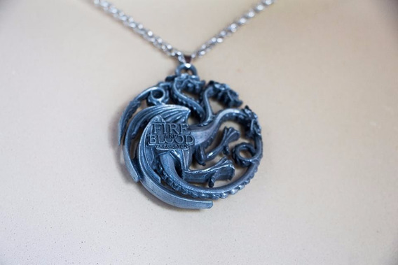 Colar Game Of Thrones - House Targaryen - Fire And Blood