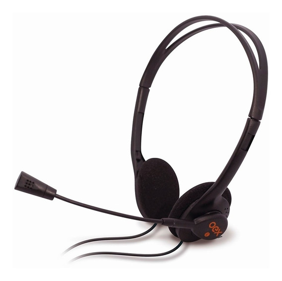 Fone De Ouvido Oex Hs100 Headset Microfone Controle Volume