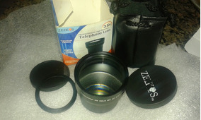 Rara Lente Conversora Telefoto Zeikos 3.5x 58mm