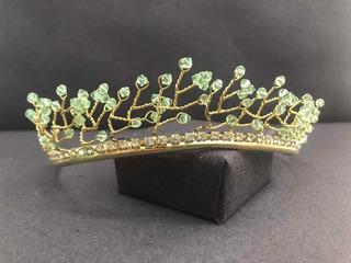Corona De Cristal Verde Xv