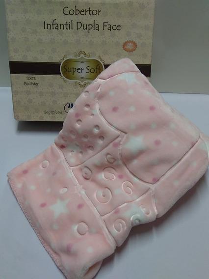 Super Cobertor Soft Raschel Bebe Menina Infantil Jolitex