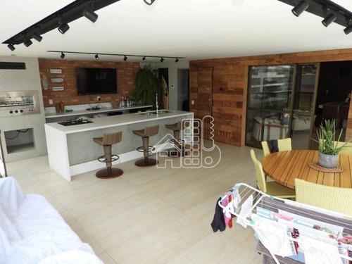 Cobertura Com 3 Dormitórios À Venda, 240 M² Por R$ 3.780.000,00 - Charitas - Niterói/rj - Co0371
