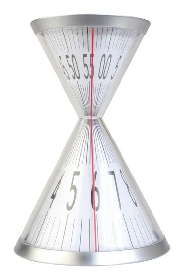 Reloj De Escritorio Tipo Arena De Acrilico Y Base De Metal