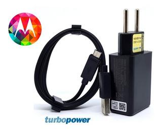 Carregador Turbo Power Para Motorola Moto G3 G4 G5 E Outros