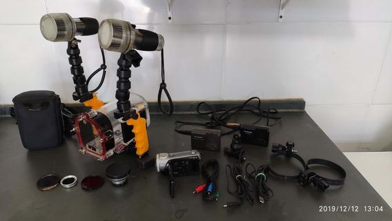 Filmadora Full Hd 3 Ccd Com Caixa Estanque , Surf , Mergulho