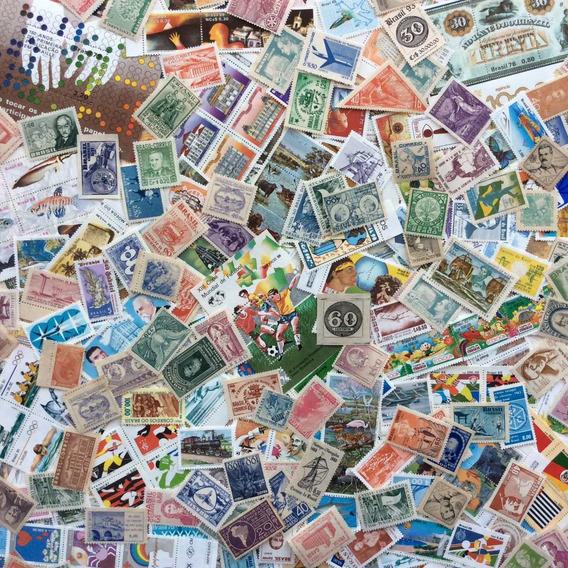 Lote + 1000 Selos Comemorativos Do Brasil Novos Bl Futebol