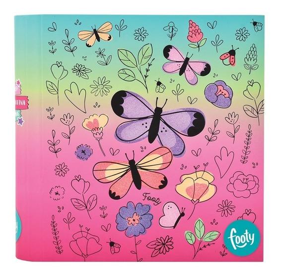 Carpeta Mariposa Magic Glitter Nº 3- Footy Oficial