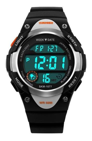 Relógio Criança Infantil Skmei Esportivo Digital 1077 Preto