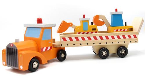 Camión Madera, Transporte Máquinas De Construcción