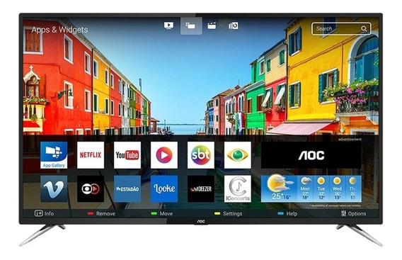 Smart Tv Led 50 Aoc Le50u7970s 4k Uhd, 2 Usb, 4 Hdmi E 60hz