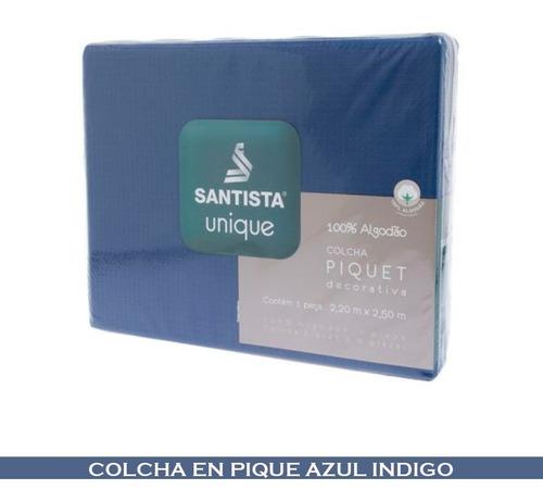 Imagen 1 de 1 de Colcha Pique Santista 100 Algodón 2 Plazas