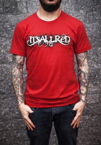 Camiseta Banda It's All Red Vermelha Logo