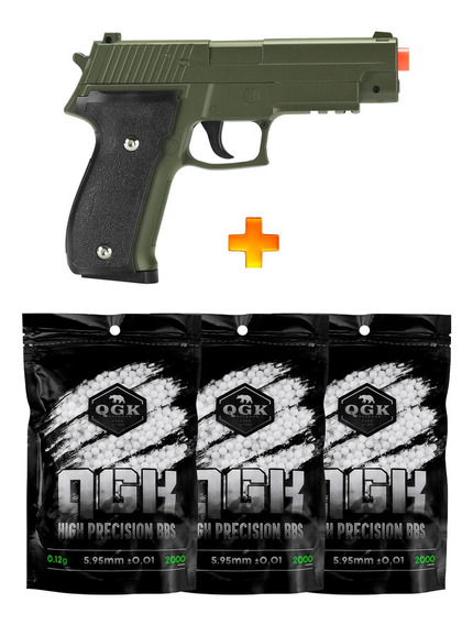 Pistola De Airsoft Spring G26 Sig Sauer P226 G26g + Bb
