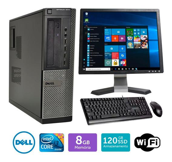 Computador Usado Dell Optiplex 9010int I3 8gb Ssd120 Mon19q