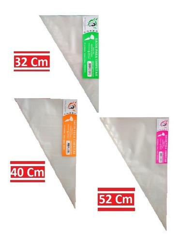 Saco De Confeitar Kit 01gran.+01méd.+01peq. C/ 50und. Por Pc