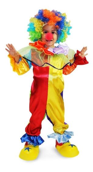 Disfraz De Payaso Completo Para Niño Y Niña Talla 2 A La 12