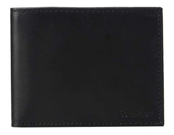 Cartera Original Calvin Klein 79370 Proteccion Rfid En Negro