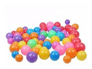 Pack 100 Pelotas Plasticas De Piscina Colores Surtidos