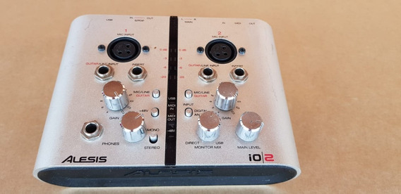 Placa Interface M Audio Alesis Io2 (=m Track Plus) 2x2 Usb