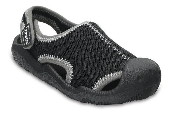 Crocs Swiftwater Sandal Junior Negro-gris Envios Todo Pais