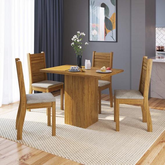 Mesa De Jantar 4 Cadeiras Diamante Espresso Móveis Cbwt
