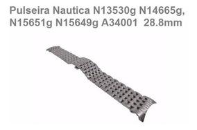 Pulseira Nautica N13530 100% Original Aço Metal N13530g