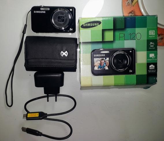 Câmera Digital Samsung Preta 14,2 Mp, Lcd Frontal, Zoom 5x