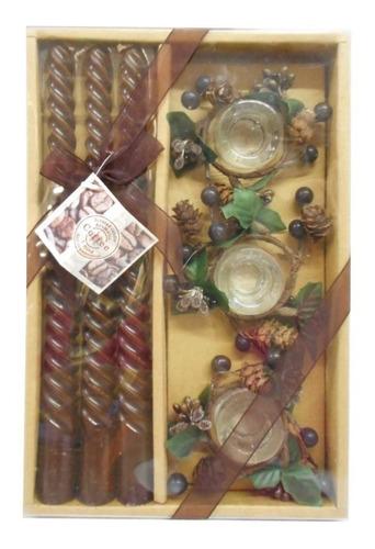 Imagem 1 de 2 de Kit Vela Decorativa Com Castiçal