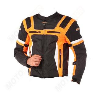 Chaqueta Chamarra Atrox Negra-naranja Motociclismo Talla S