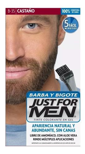 Just For Men Colorante Gel Barba Y Bigote Tapa Canas Castaño