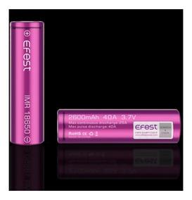 Kit 2 Bateria Efest 2600 Mah 40a 18650 High Drain
