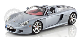 Miniatura Porsche Carrera Gt Azul Prateado Motormax 1/18