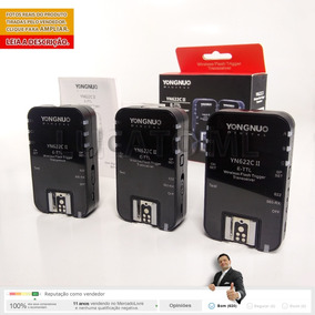 Kit 3 X Radio Flash Yongnuo Yn622cii P/ Canon 12x S/ Juros