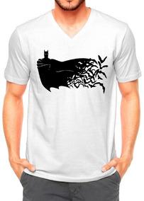 0b9301265 Camisa Camiseta Branca Modelo Cartoon Batman E Morcegos Novo