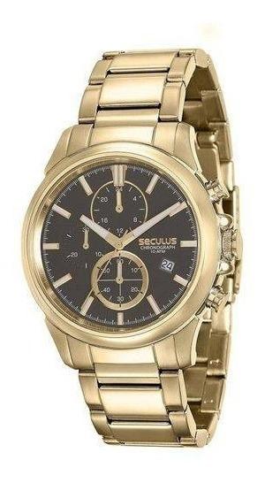 Relógio De Pulso Masculino Seculus Cód. 13023gpsvda1