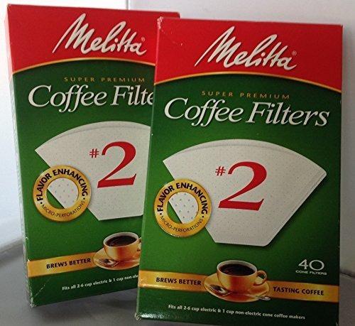 Imagen 1 de 2 de Filtros Desechables - Melitta Coffee Filters #2-40 Ct. White
