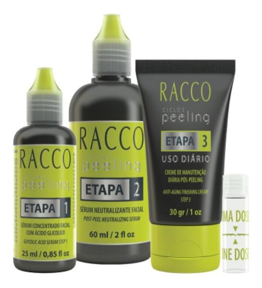 Peeling Racco Tratamento Em 3 Etapas Linha Ciclos Peeling