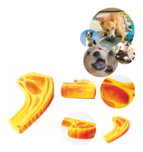 Bife Borracha Interativo Cachorro Emissor De Som Brinquedo